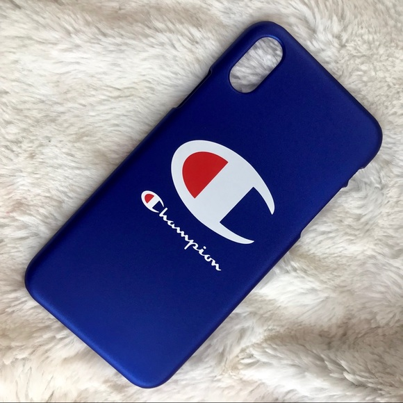 d30f47e3b896f Brand New Matte Blue Champion Iphone case •